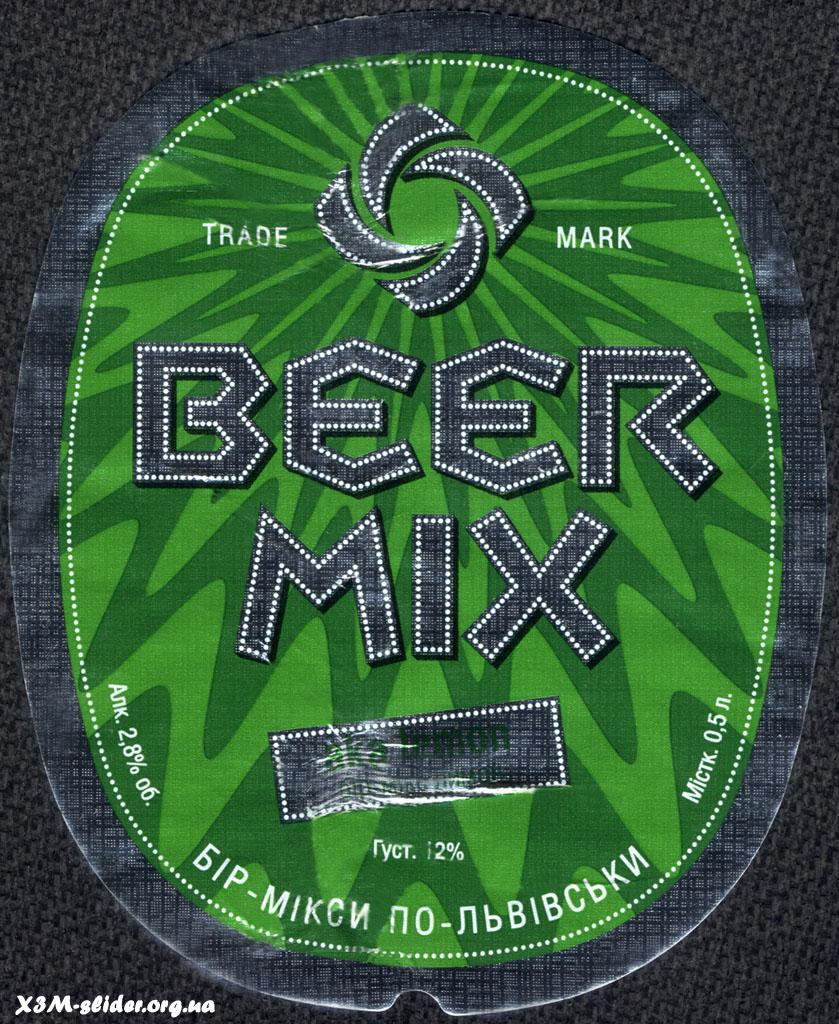 Перша приватна броварня - Beer Mix - Бірмікс-Лимон