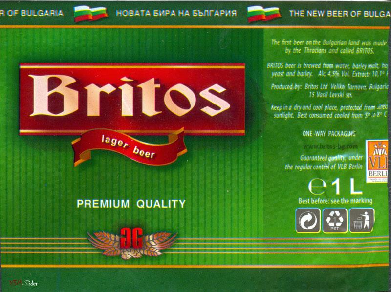 Britos Lager Beer - Premium Quality