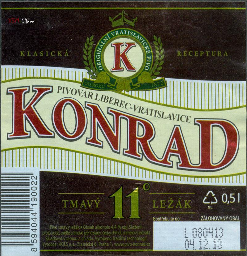 Konrad - Tmavy Lezak 11 - Pivovar Liberec-Vratislavice