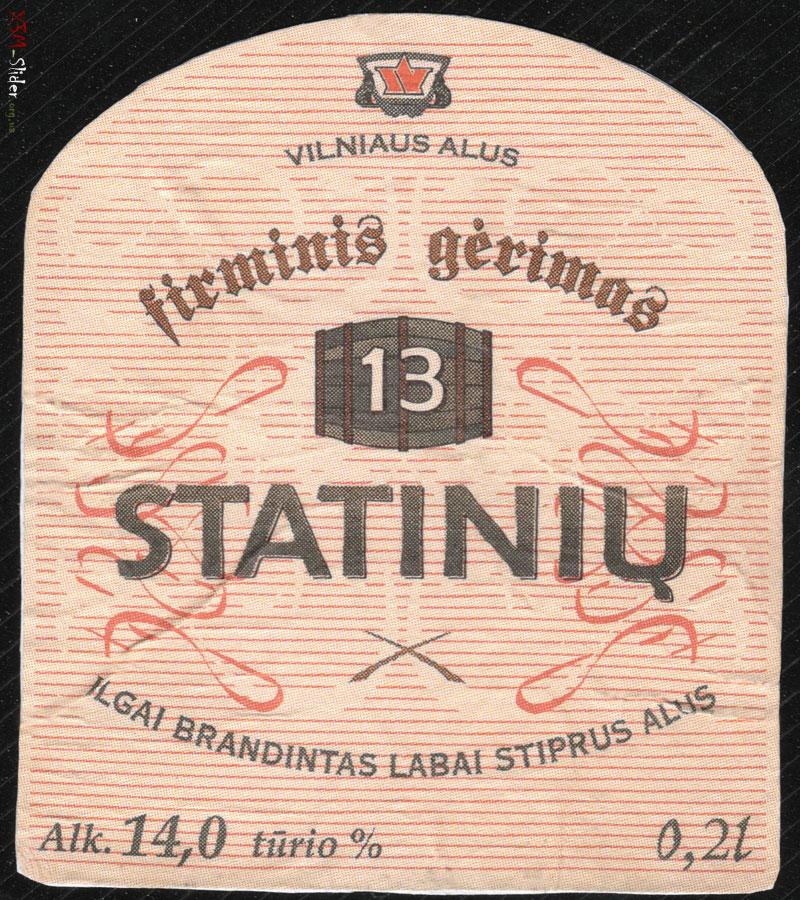 Vilniaus Alus - 13 statiniu - Sviesusis