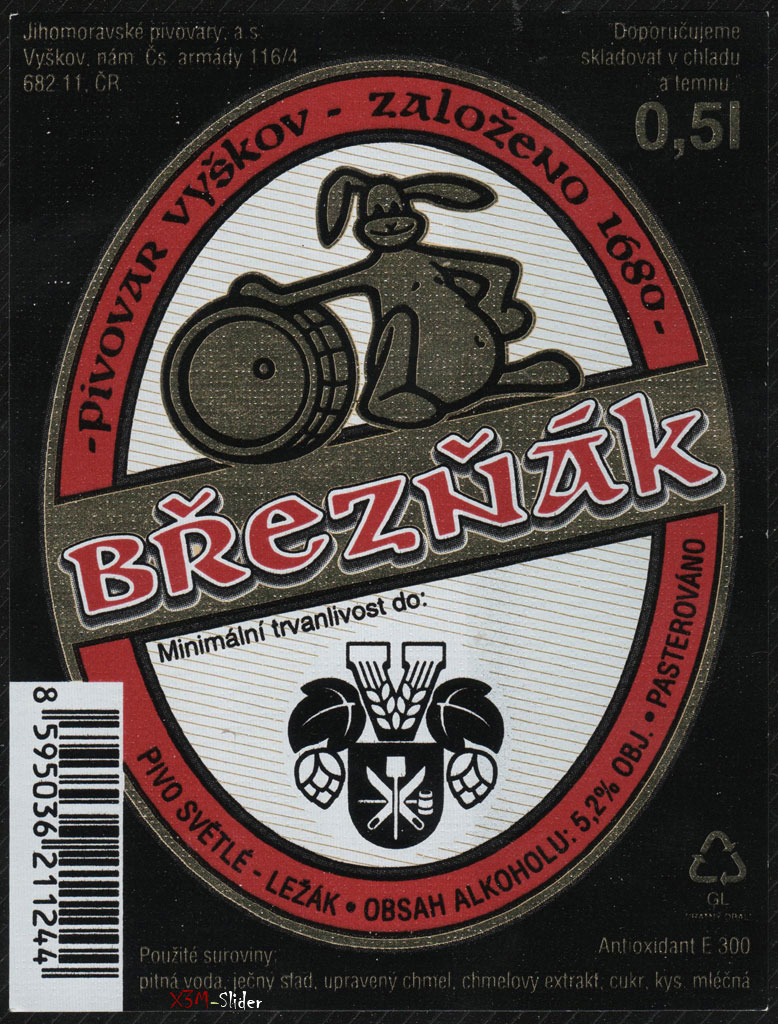 Breznak - Pivo Svetle - Pivovar Vyskov