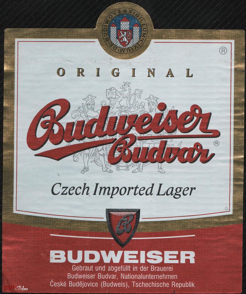 Budweiser Budvar - Czech Imported Lager - Tschechische Republik