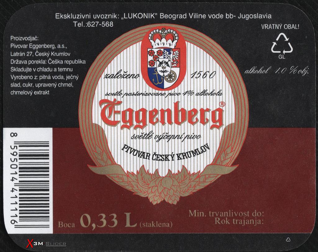 Eggenberg - Svetle vycepni pivo - Pivovar Cesky Krumlov