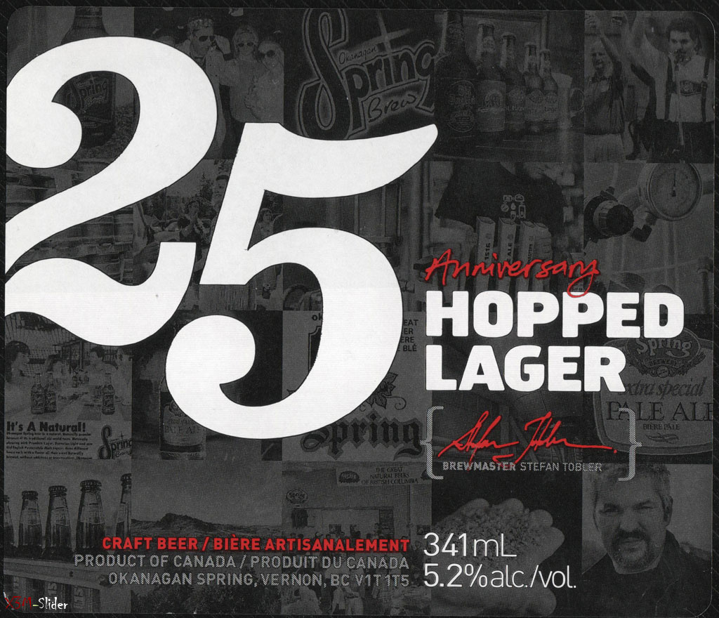 Okanagan Spring 25th Anniversary Hopped Lager