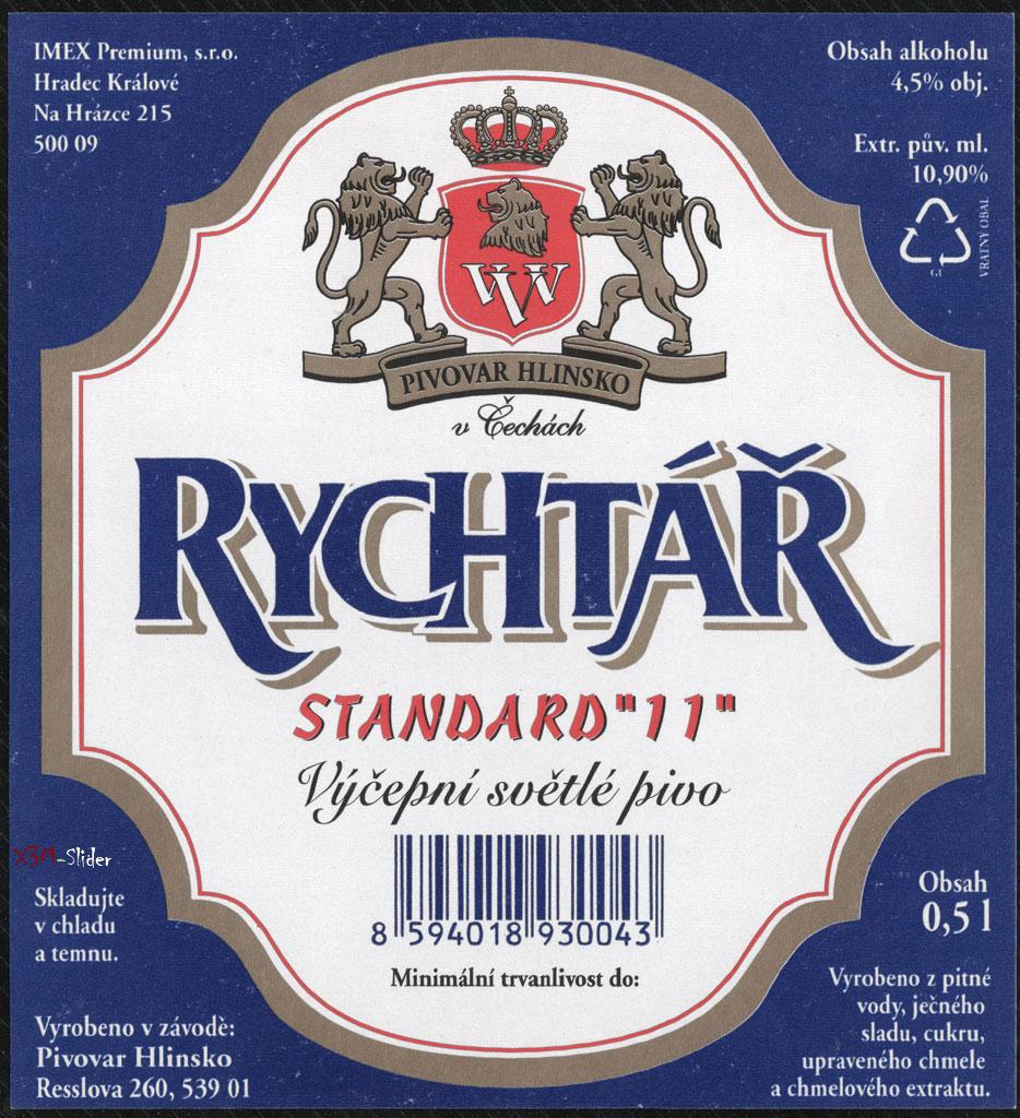Rychtar - Standard 11 - Svetle - Pivovar Hlinsko