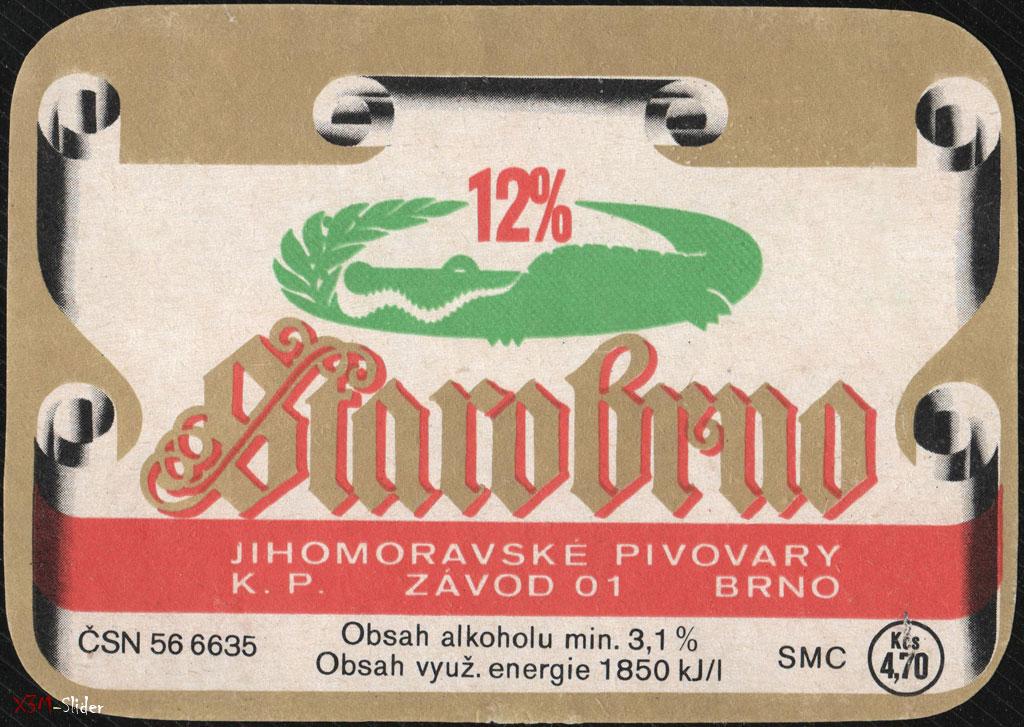 Starobrno - 12% - Jihomoravske Pivovary K.P.