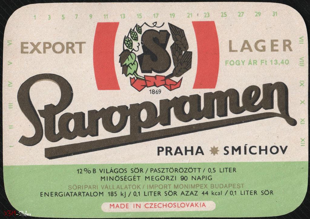 Staropramen - Export Lager - Praha Smichov