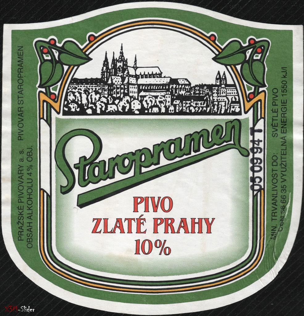 Staropramen - Pivo Zlate Prahy 10%