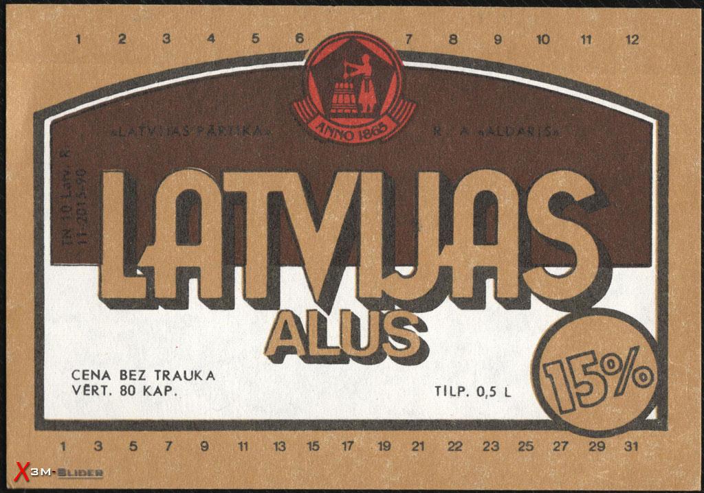 Latvijas Alus - Latvijas Partika - RA Aldaris