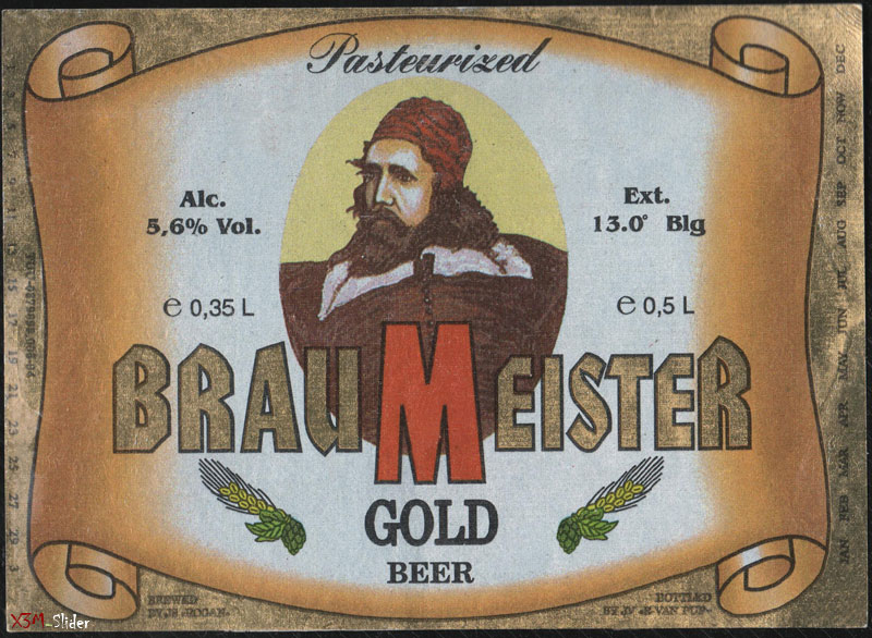 BrauMeister - Gold Beer - Pasteurized