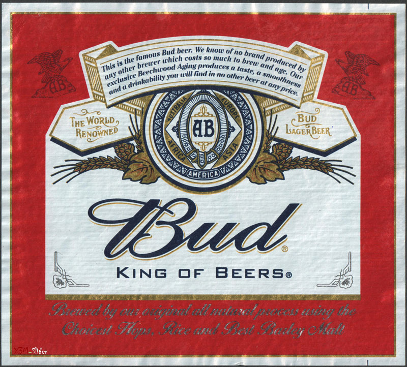 Bud - King of Beers - Lager Beer - AB