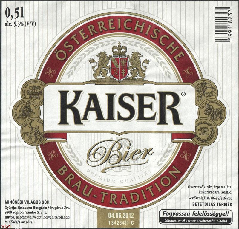 Kaiser Bier - Brau-Tradition - Osterreichische