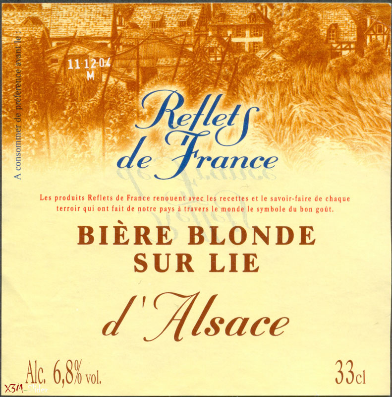 Biere Blonde sur Lie - Reflets de France