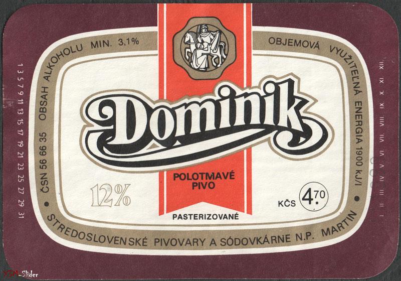 Dominik - Polotmave Pivo - Pasterizovane