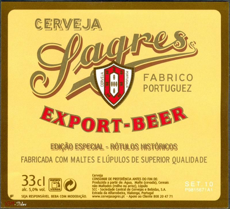 Sagres - Export-beer - Fabrico Portuguez
