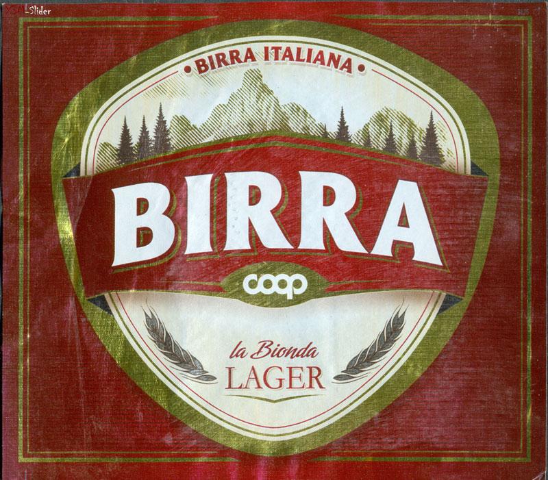 Birra - Lager - COOP - La Bionda - Birra Italiana