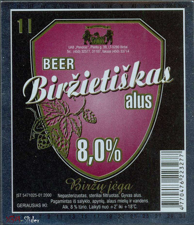 Birzietiskas alus - Birzy jega