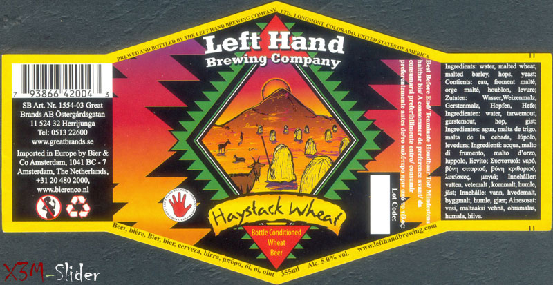 Haystack Wheat - Left Hand Brewing Company
