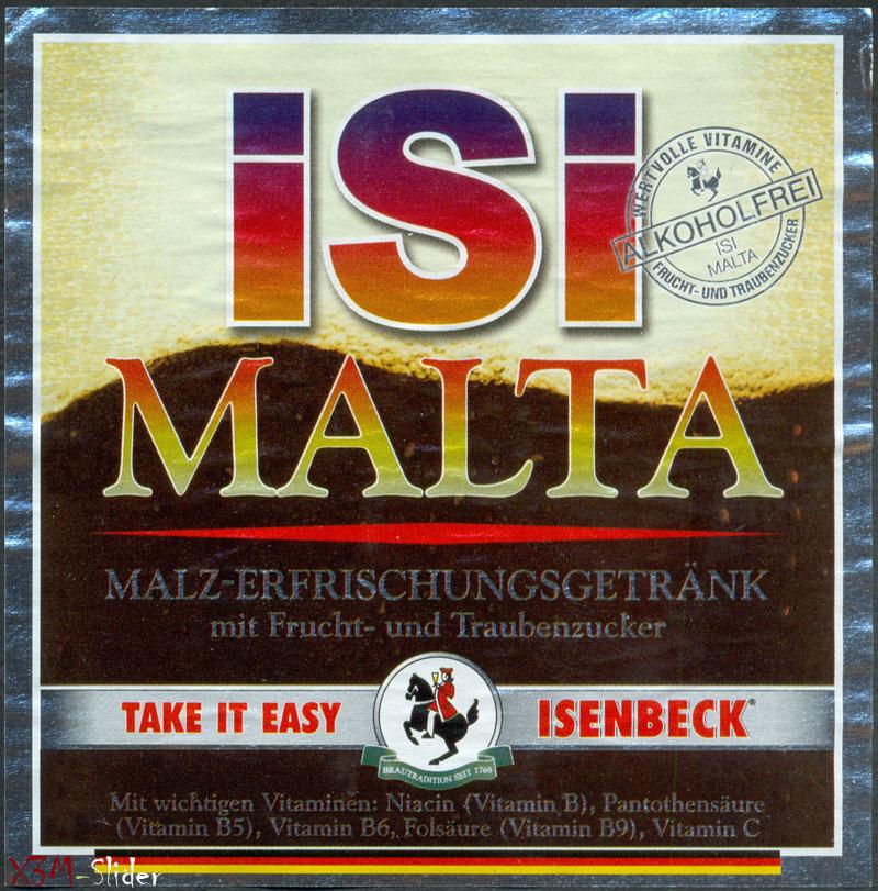 ISI Malta - Alkoholfrei - Isenbeck Privat-Brauerei Nies AG