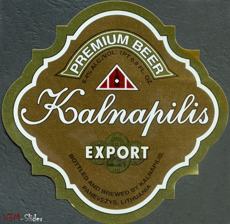 Kalnapilis - Premium beer - Export