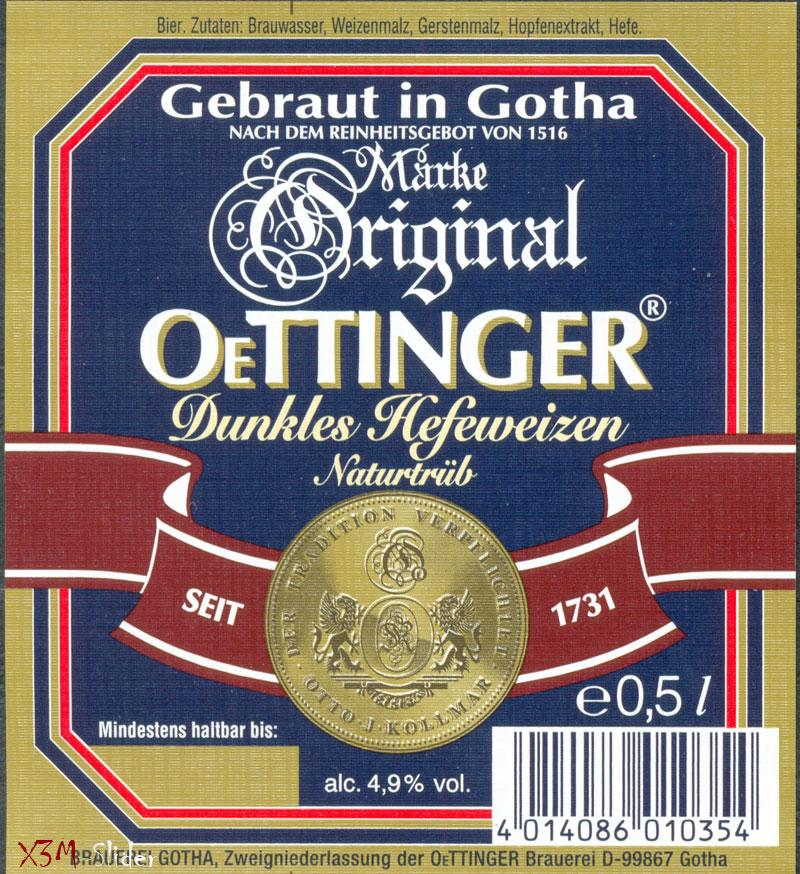 OeTTINGER - Dunkles Hefeweizn