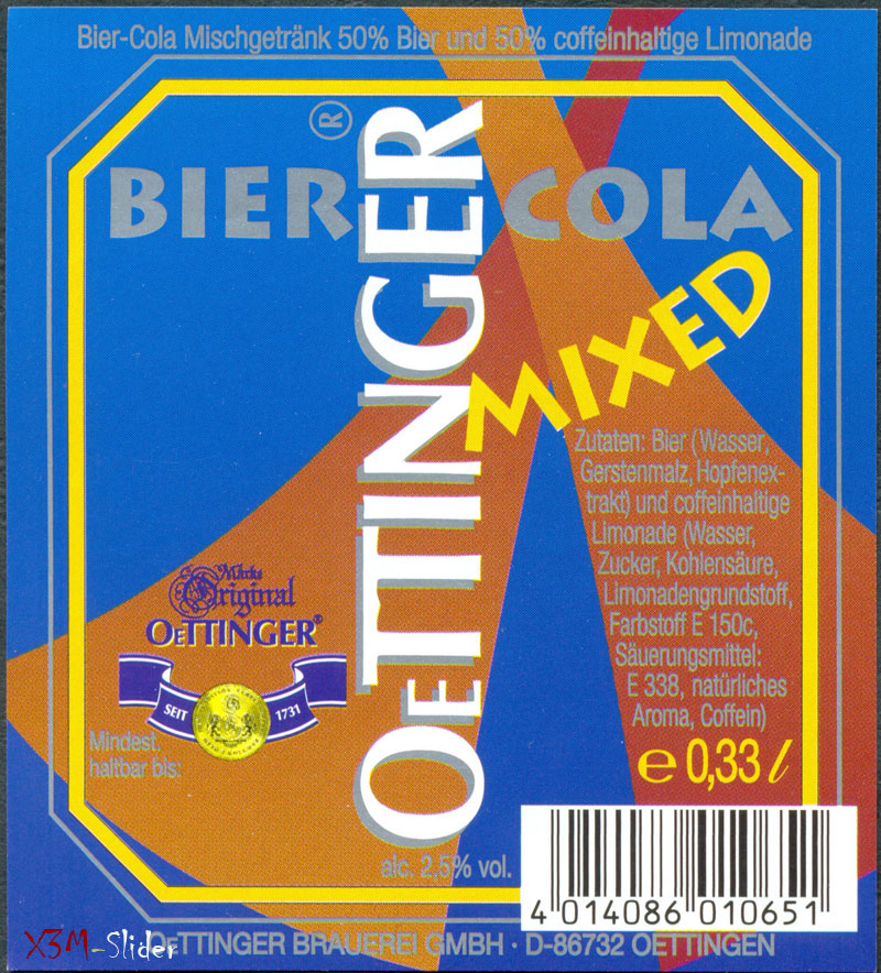 OeTTINGER - Mixed Bier & Cola