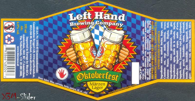 Oktoberfest Marzen Lager - Left Hand Brewing Company