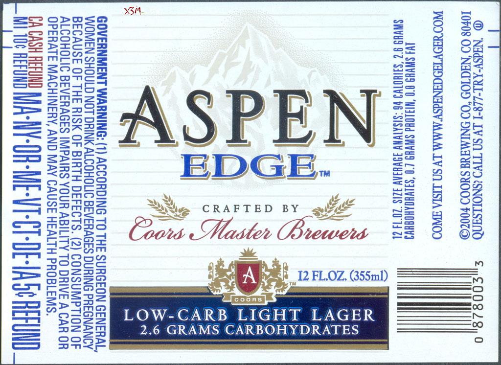 Aspen EDGE - Coors Brewing Company (MillerCoors)