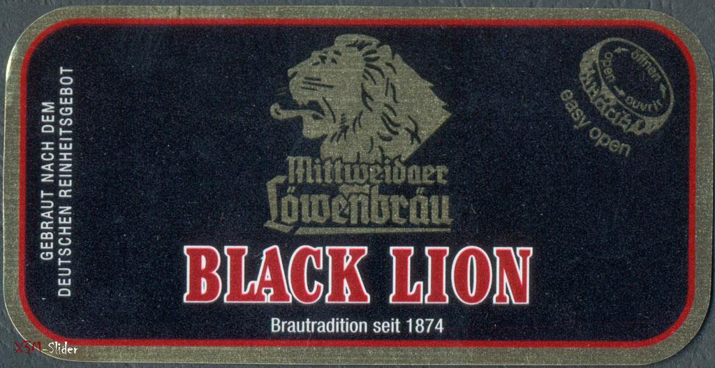 Black Lion - Mittweidaer Lowenbrau - Brauhaus Hartmannsdorf