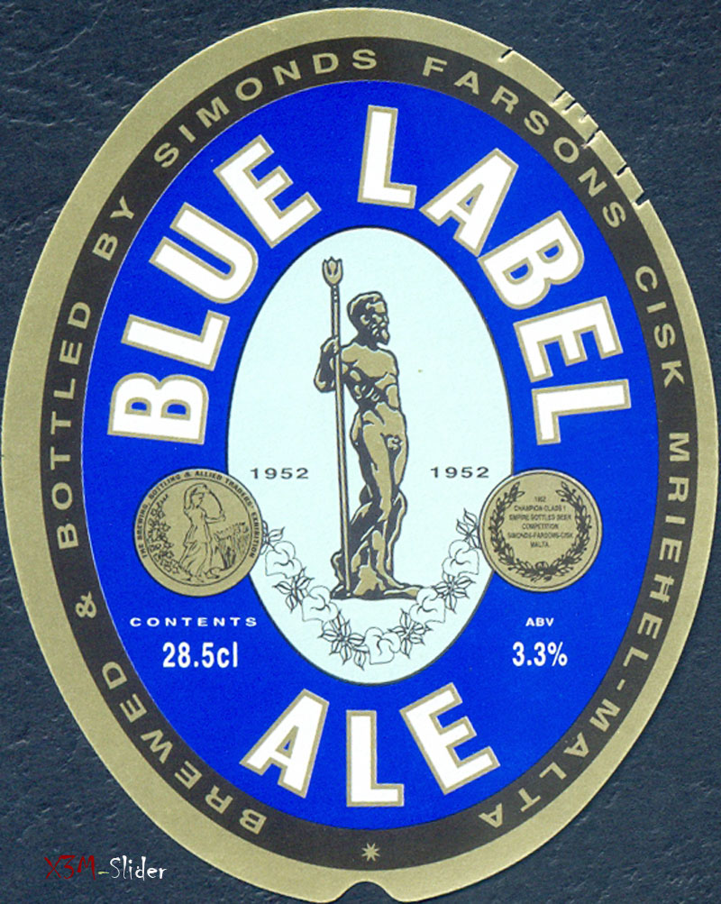Blue Label Ale - Brewery Simonds Farsons Cisk LTD