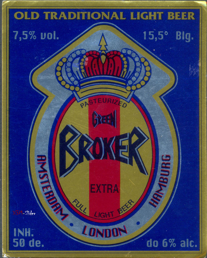 Broker Green - Extra Full Light Beer - Pasterized