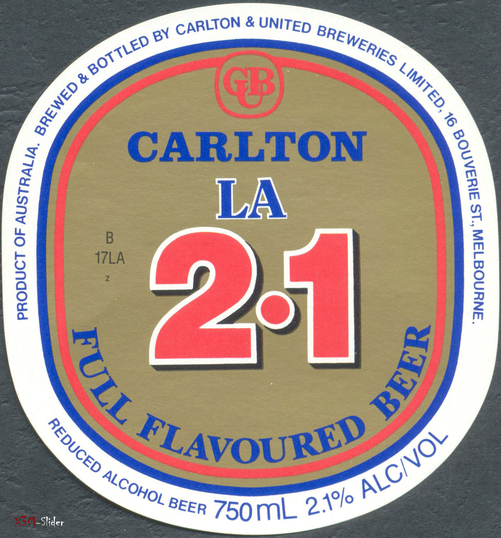 Carlton & United Breweries - LA 2.1 - Full Flavoured Beer 750ml