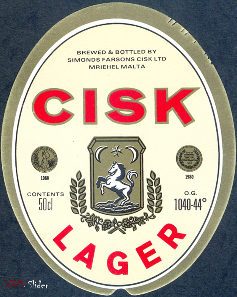 Cisk Lager 50cl - Brewery Simonds Farsons Cisk LTD