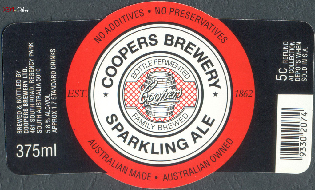 Sparkling Ale 375ml - Coopers Brewery
