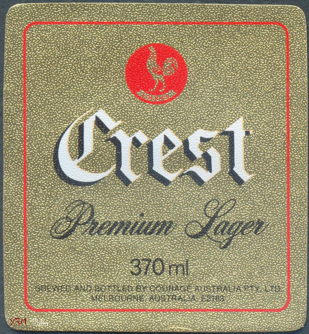 Crest Premium Lager - Courage Australia