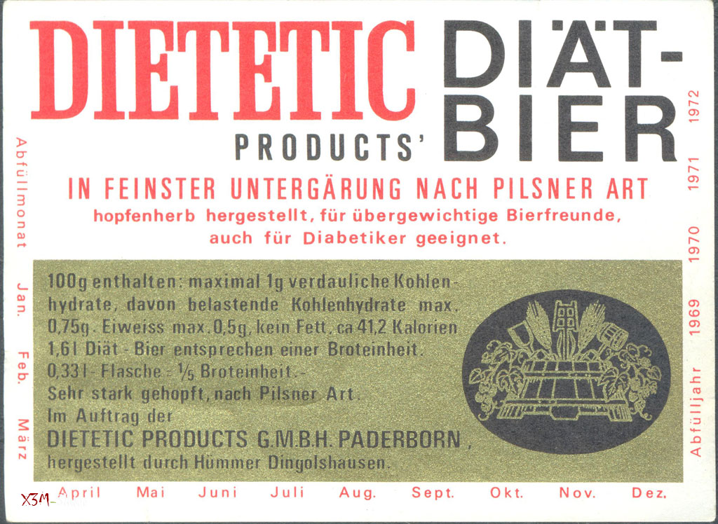 Diat bier - Dietetic Products G.M.B.H. Paderborn