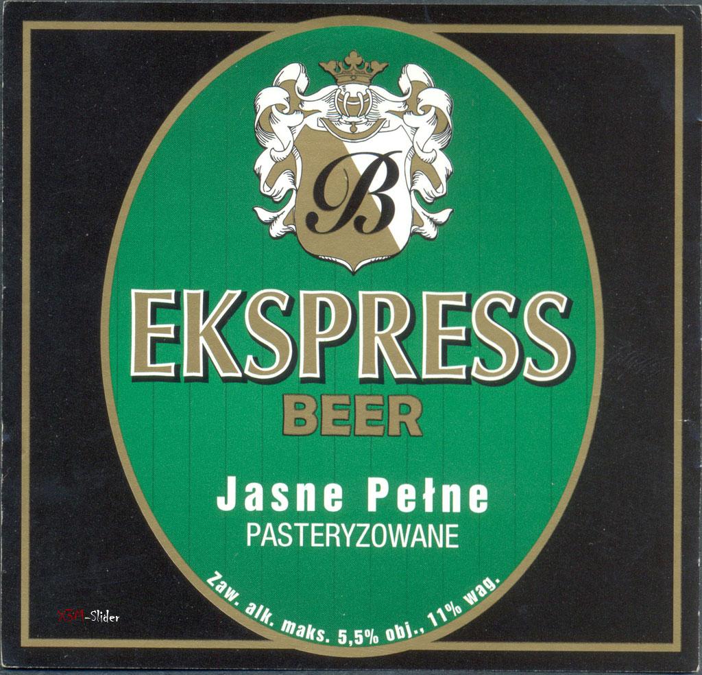 Ekspress Beer - Jasne Pelne Pasteryzowane - Browarska
