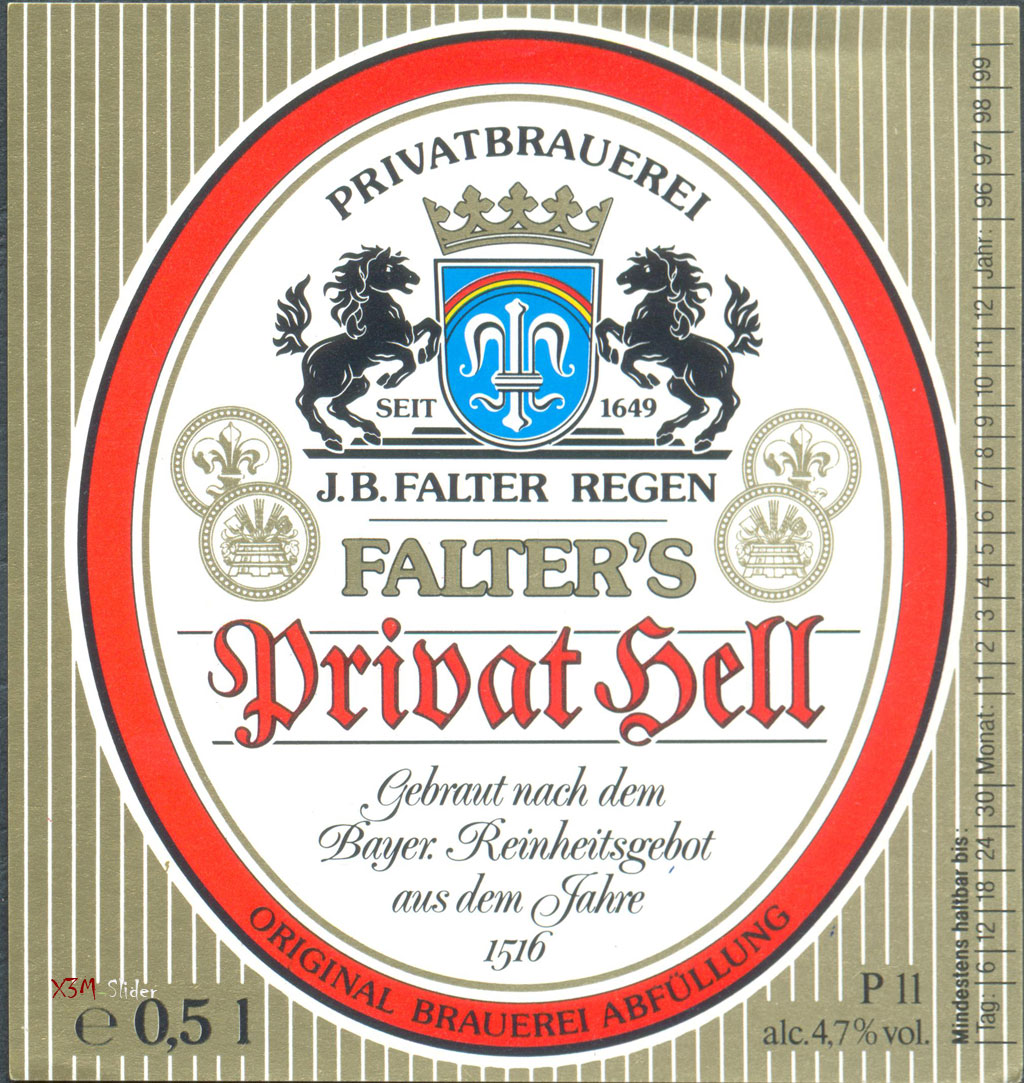 Falter Privat-Hell - Privatbrauerei J.B. Falter Regen KG - Regen