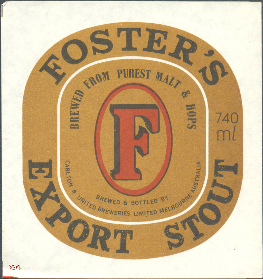 Fosters Export Stout - Carlton & United Breweries Pty., Ltd.