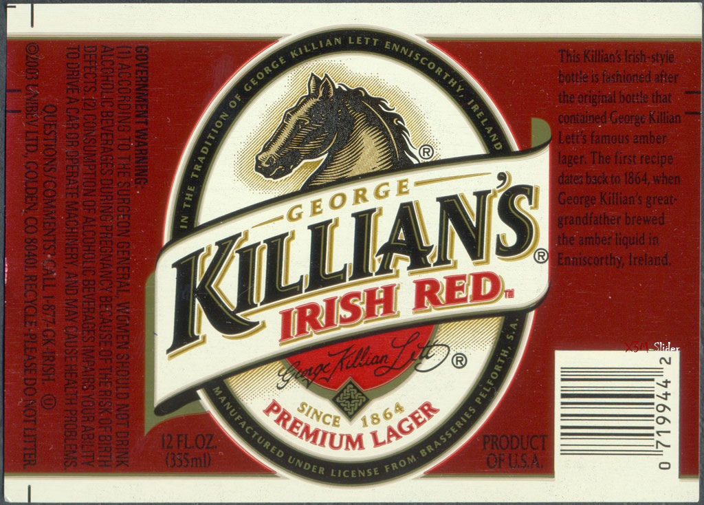 George Killian's Irish Red Premium Lager Beer