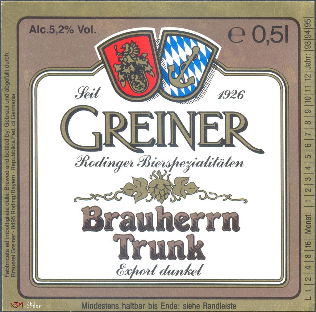 Greiner - Brauherrn Trunk