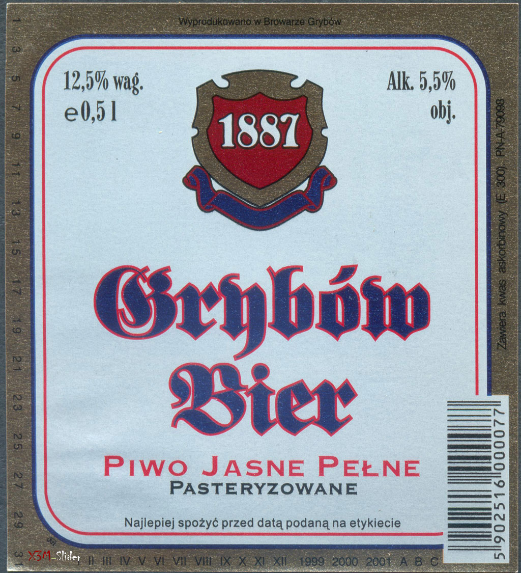 Grybow Bier - Piwo Jasne Pelne Pasteryzowane - Browarze Grybow