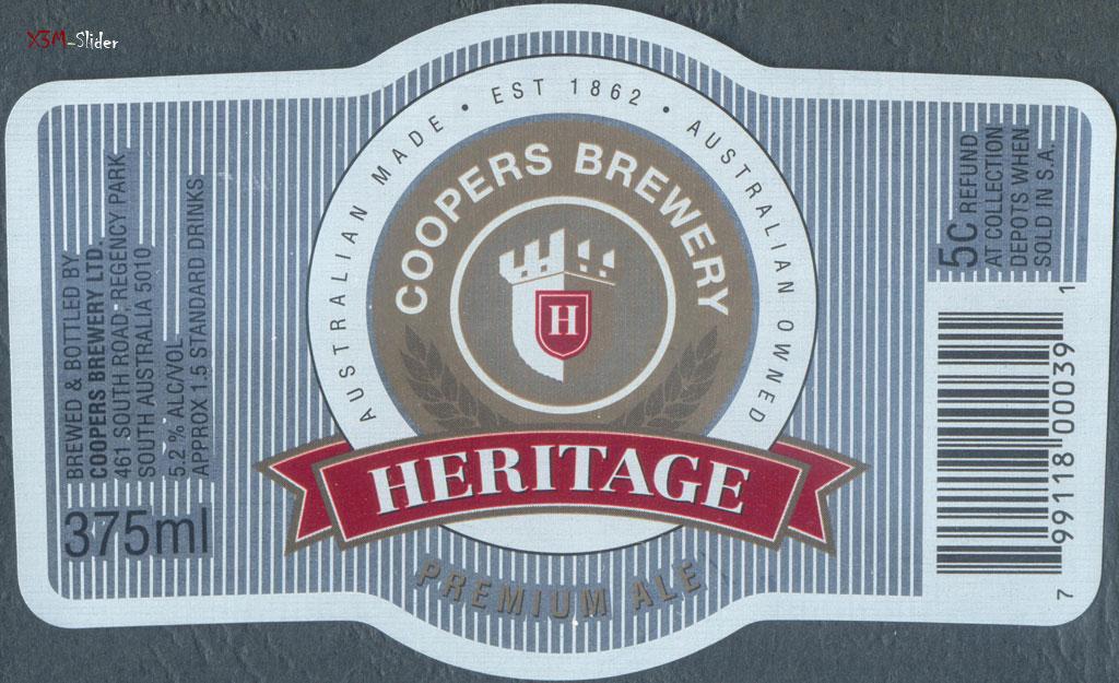 Heritage Premium Ale - Coopers Brewery