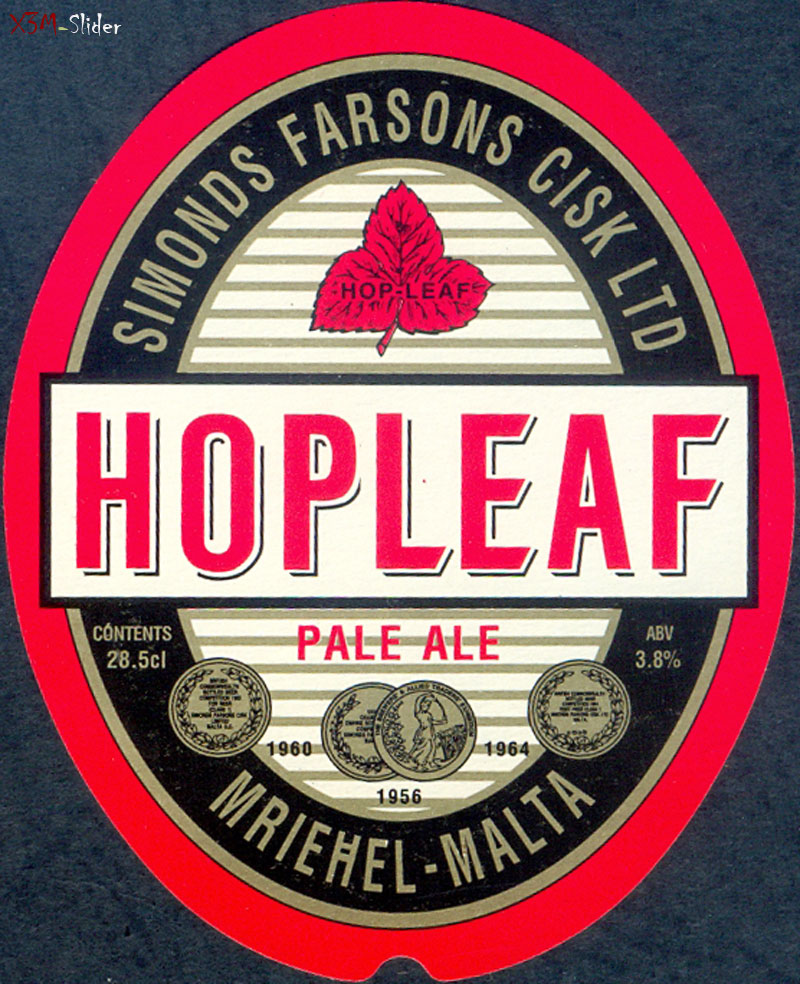 Hopleaf - Pale ale 28.5 cl - Simonds Farsons Cisk LTD - Mriehel-Malta