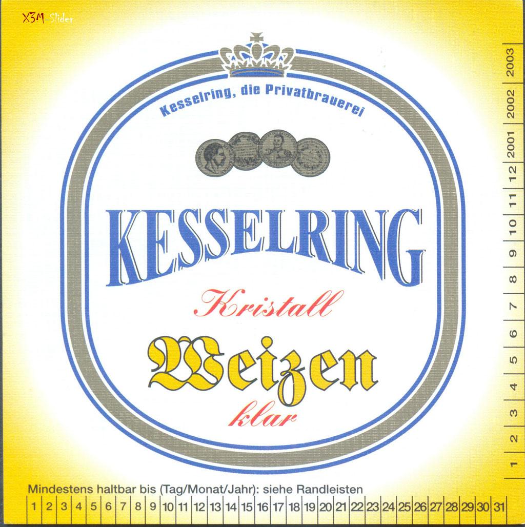 Kesselring - Kristall Weizen - Kesselring, due Privatbrauerei