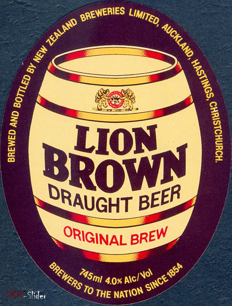 Lion Brown - Draught Beer - Original Brew -  Lion Breweries - NZ
