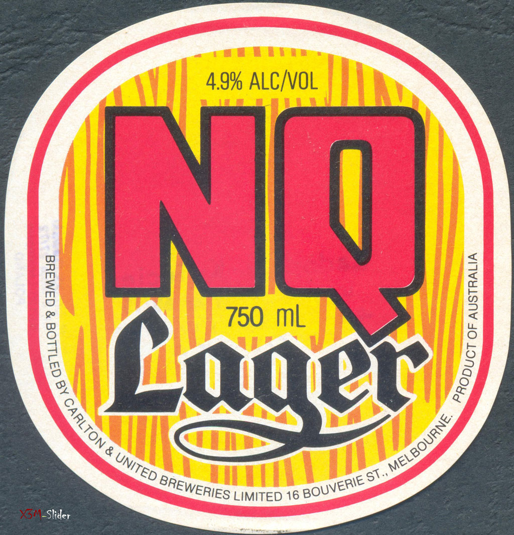 N. Q. Lager 750ml - Carlton & United Breweries Pty., Ltd.