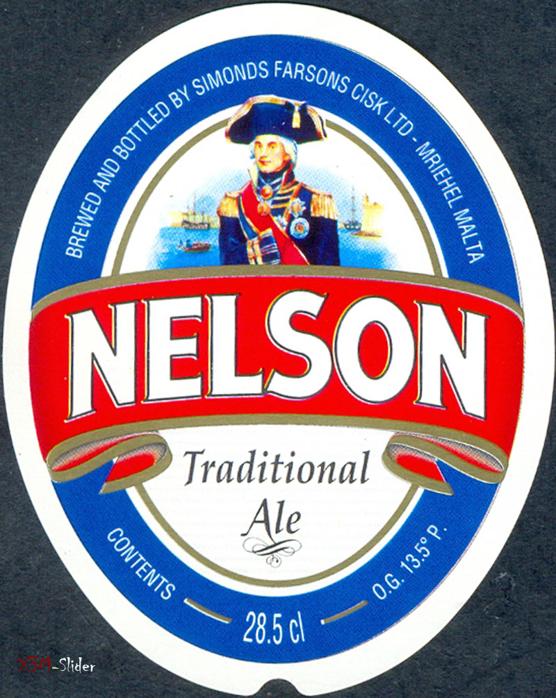 Nelson - Traditional Ale - Brewery Simonds Farsons Cisk LTD