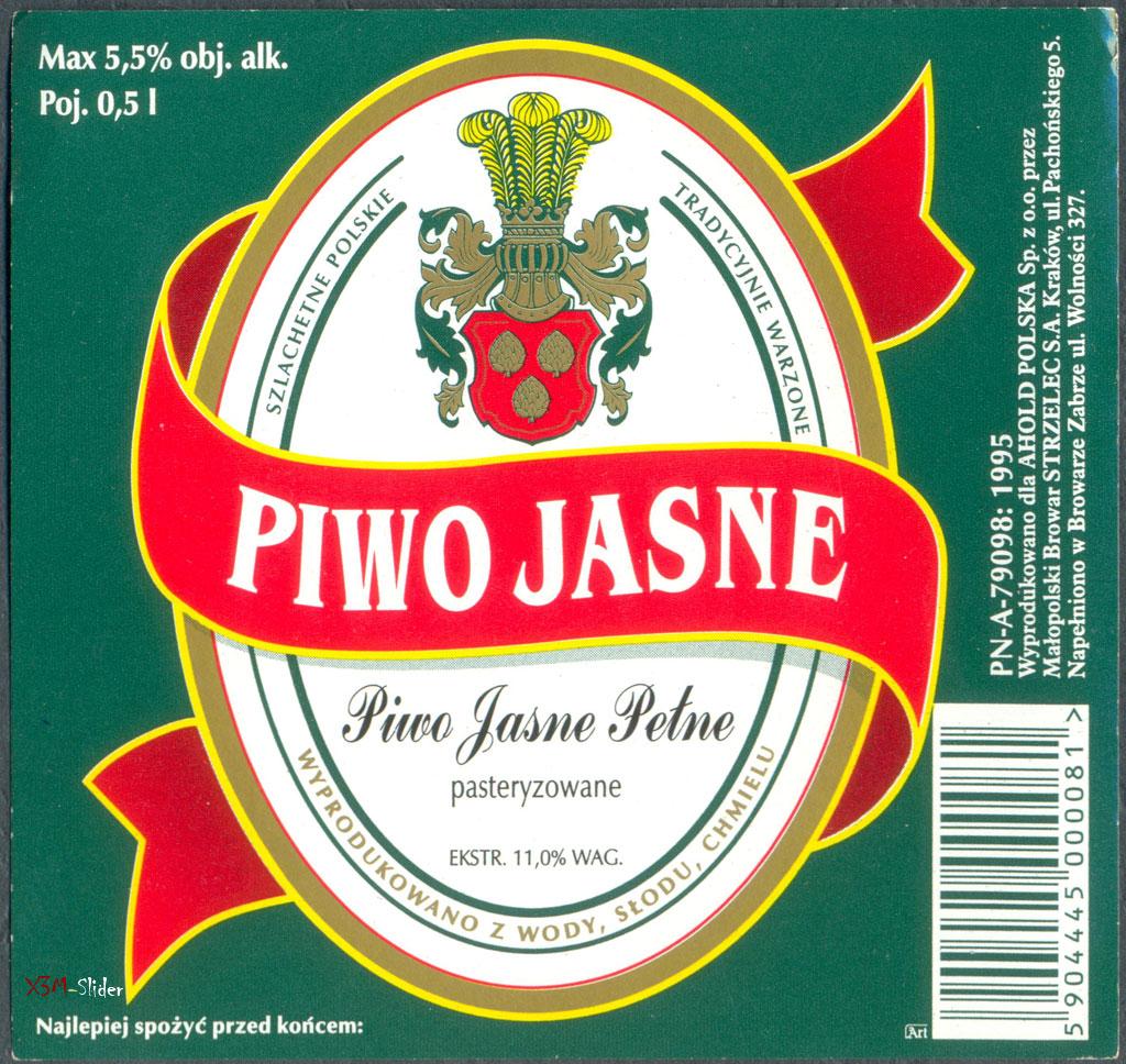 Piwo Jasne Pasteryzowane - Malopolski Browar Strzelec S.A