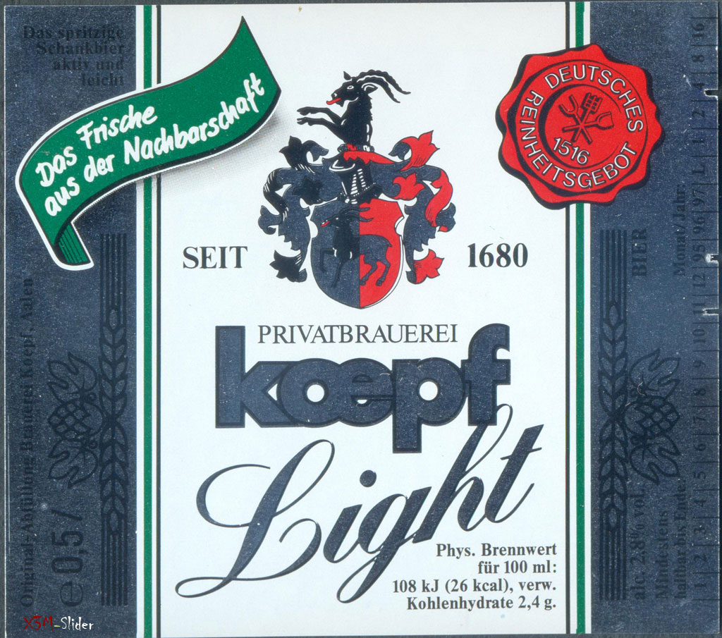 Koepf Light - Privatbrauerei